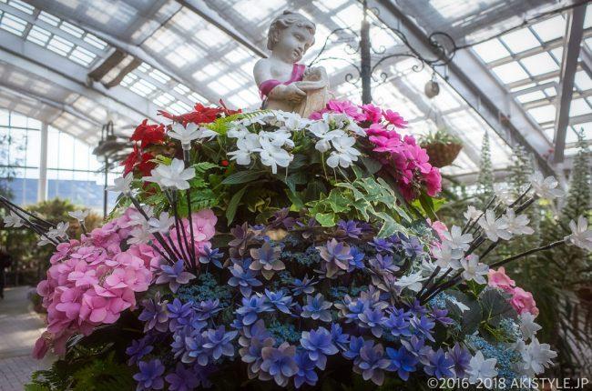 山中湖花の都公園のフローラルドームふらら