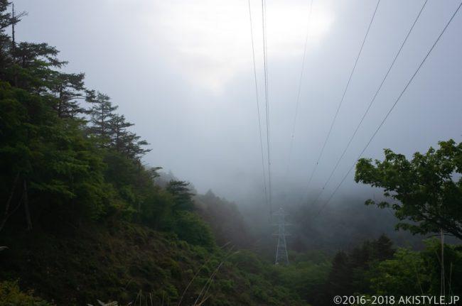 八丁峠の鉄塔とガス