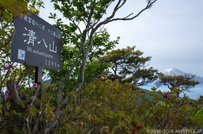 大月市秀麗富嶽十二景の清八山から見た富士山