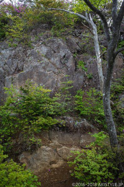本社ヶ丸の岩場
