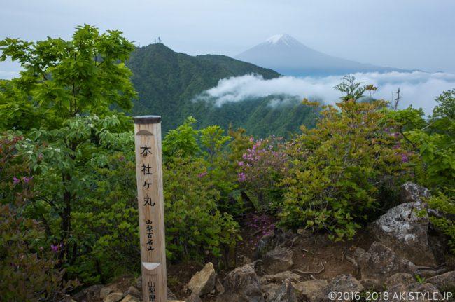 大月市秀麗富嶽十二景の本社ヶ丸から見た富士山
