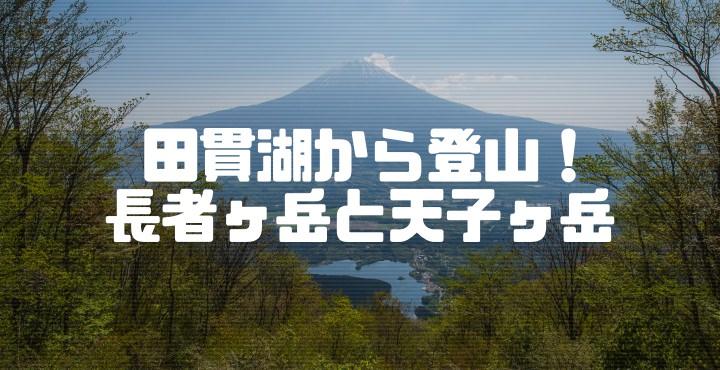田貫湖から長者ヶ岳と天子ヶ岳を登山