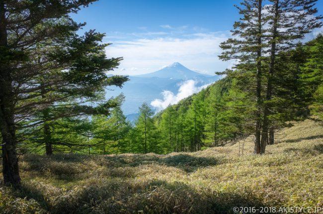 千頭星山からの富士山