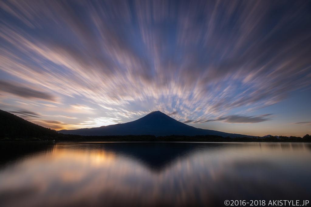 田貫湖からの富士山とリフレクション