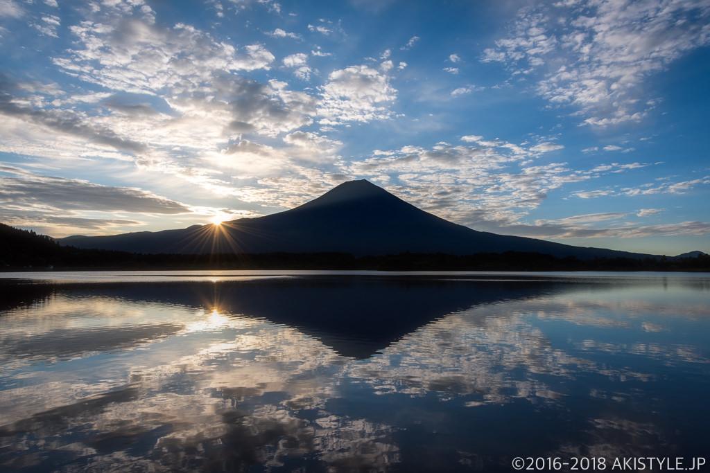 田貫湖からの日の出と富士山リフレクション