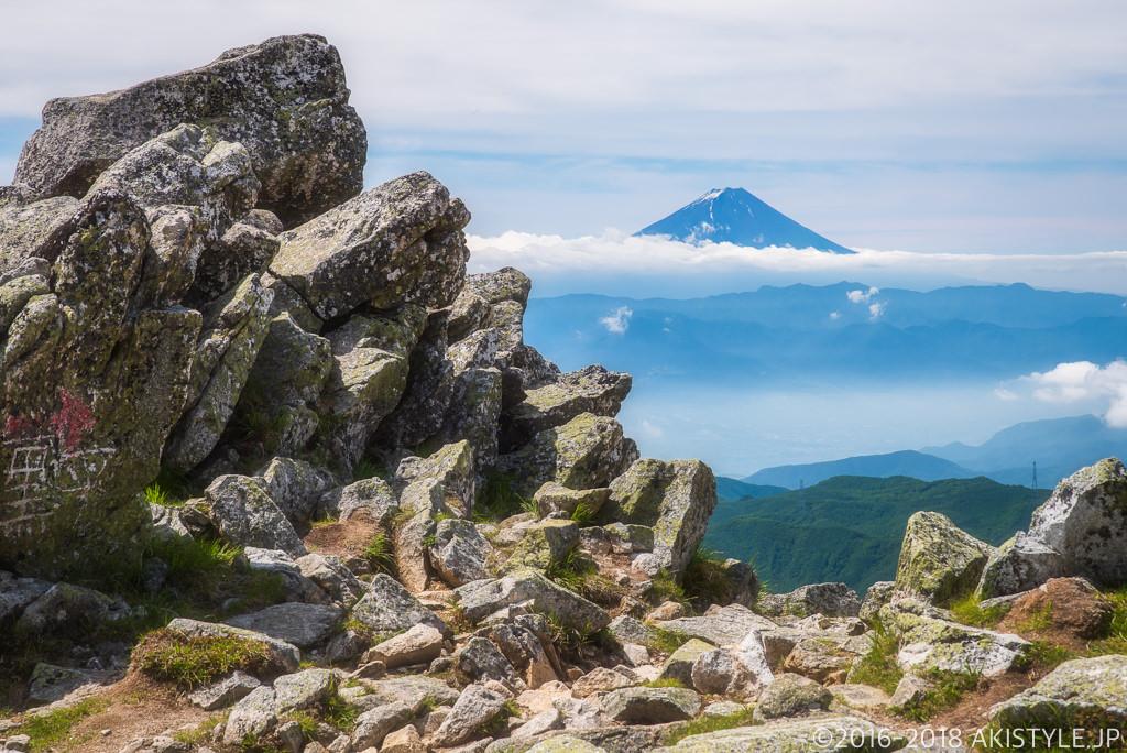 金峰山から見る富士山