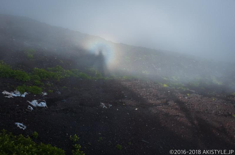 富士登山でブロッケン現象