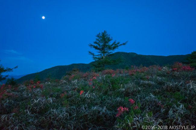 甘利山から見た月
