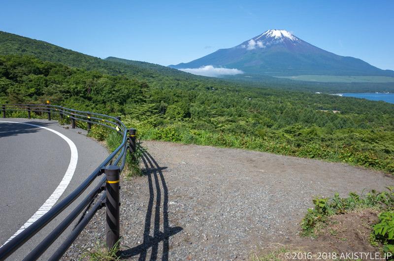 山中湖パノラマ台から見る富士山