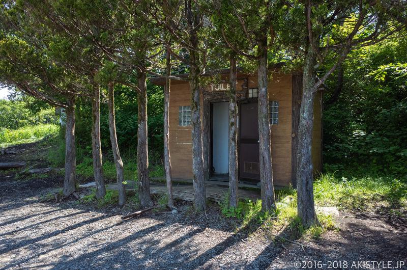 山中湖パノラマ台の公衆トイレ