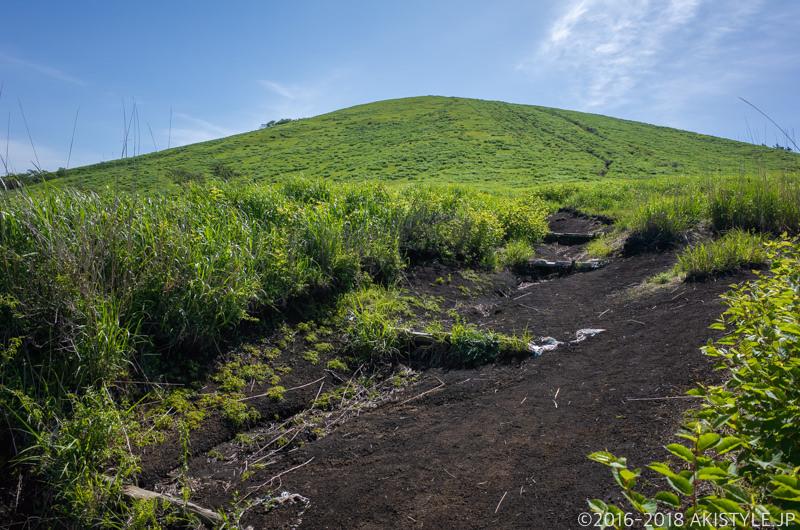 鉄砲木ノ頭の登山道