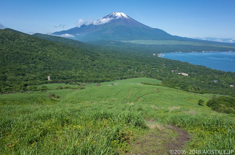 鉄砲木ノ頭への登山道から見る富士山