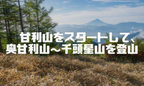 甘利山(1,731m)登山情報と富士山撮影