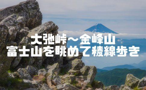大弛峠から金峰山まで登山