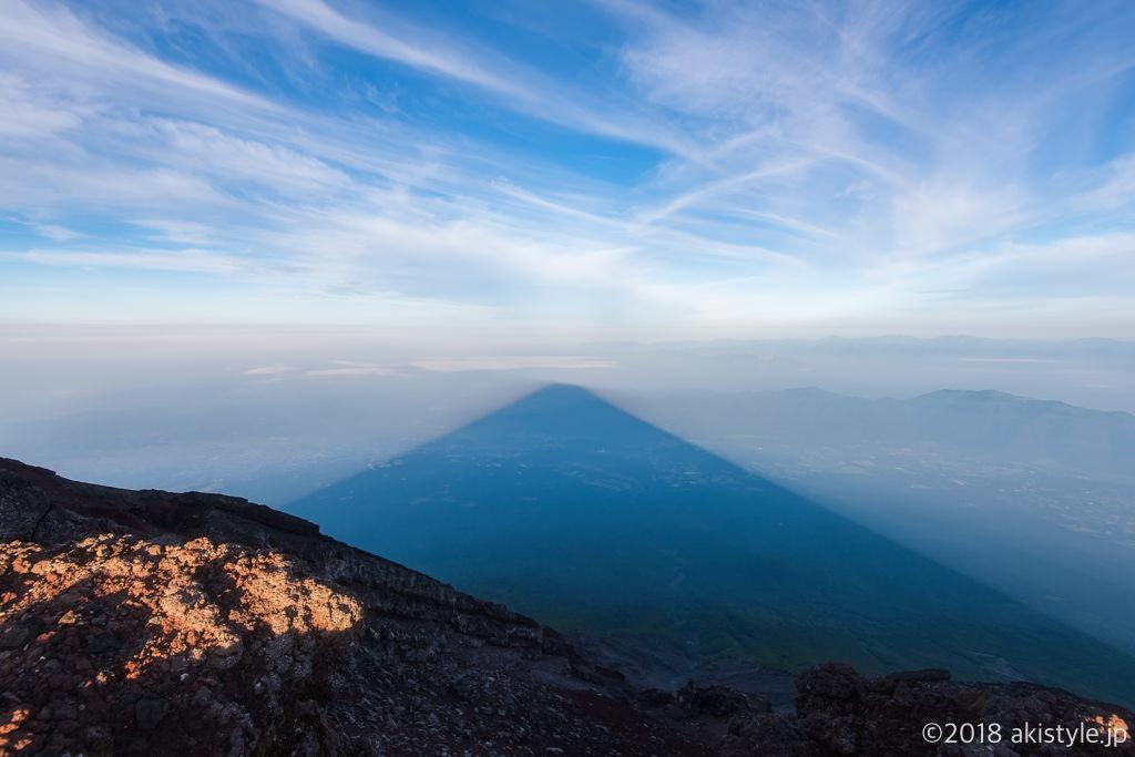 富士山の頂上から見る影富士