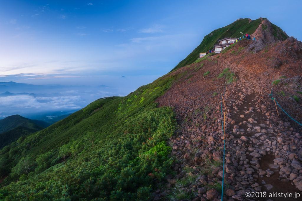 赤岳と富士山