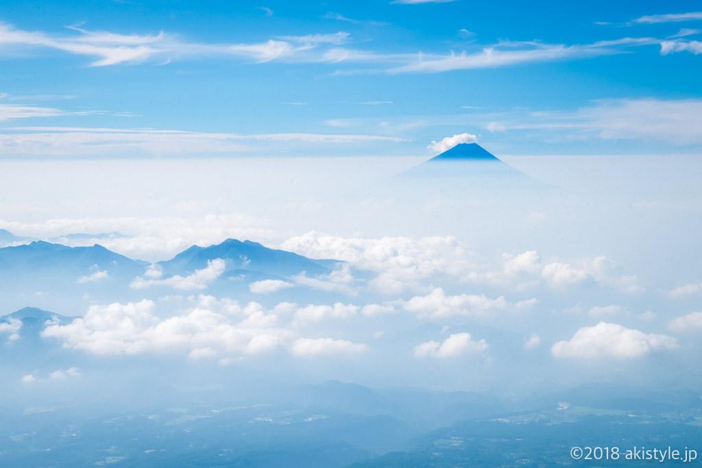 赤岳から見る富士山