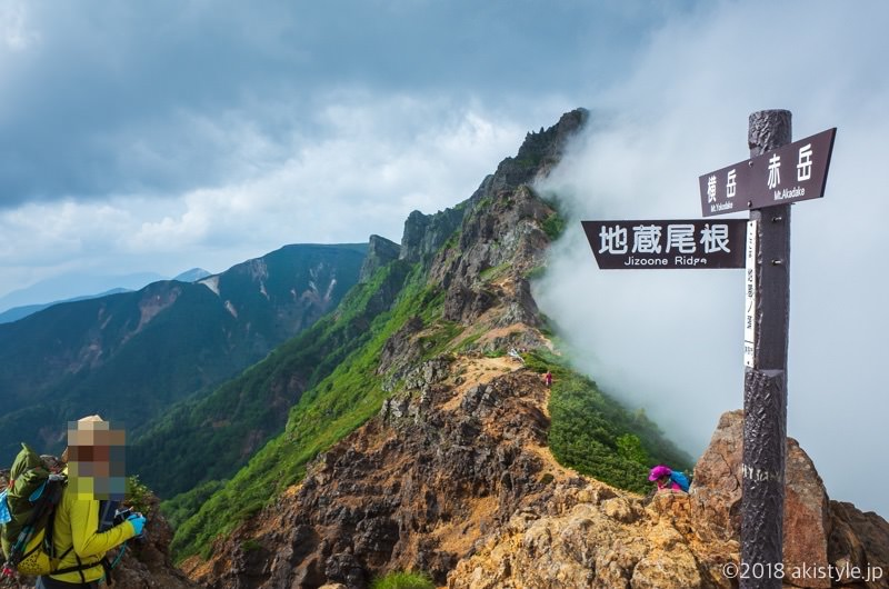 赤岳の登山道