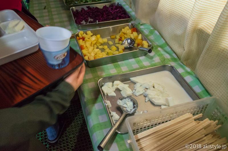 赤岳天望荘で食事
