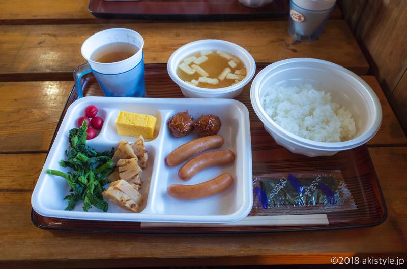 赤岳天望荘の朝食