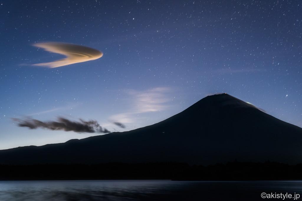 田貫湖から富士山と吊るし雲