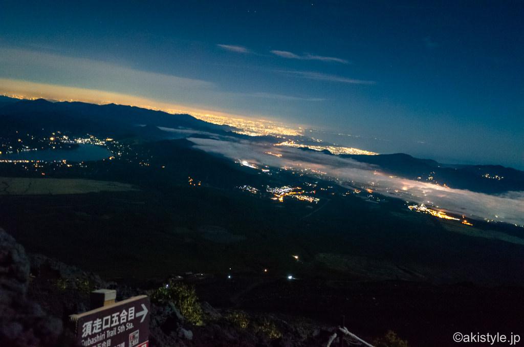 須走ルートからの夜景
