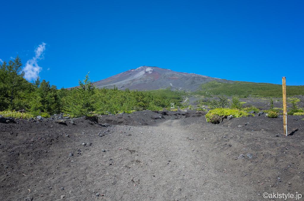 須走ルートから見た富士山