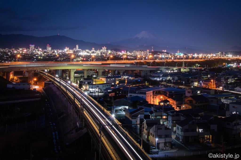 用宗城山からの富士山と夜景