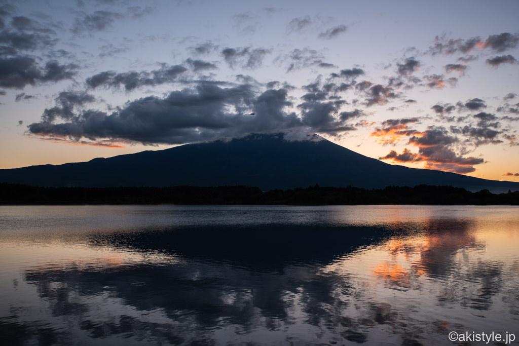 田貫湖で朝焼けと富士山