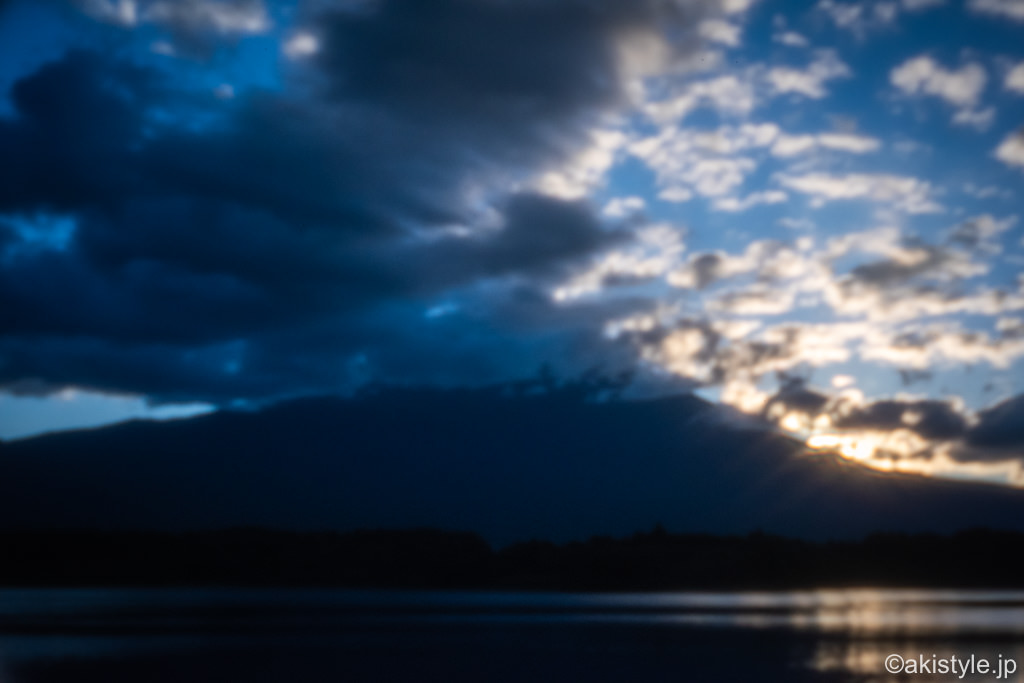 自作ピンホールレンズで富士山撮影