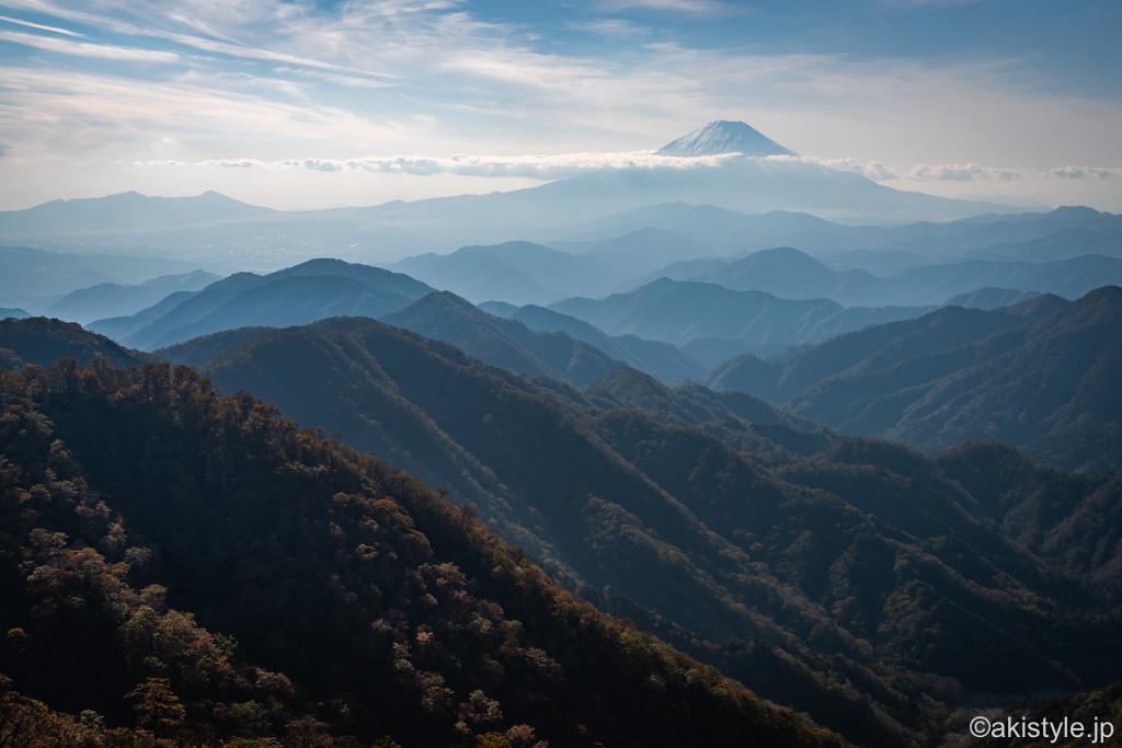 秋の塔ノ岳から見た富士山