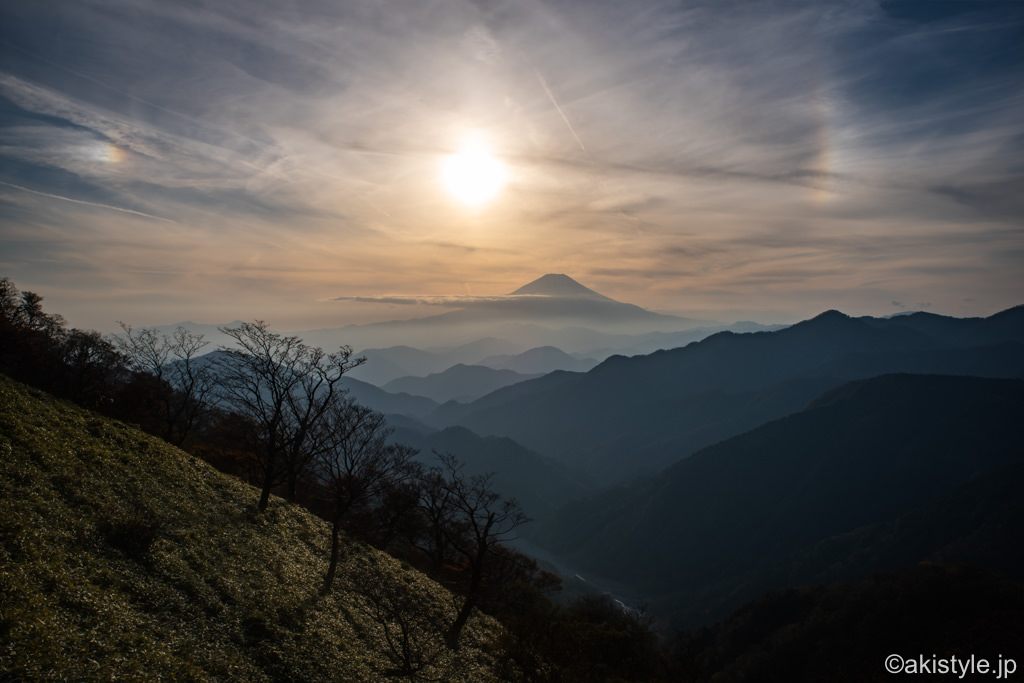 富士山と幻日