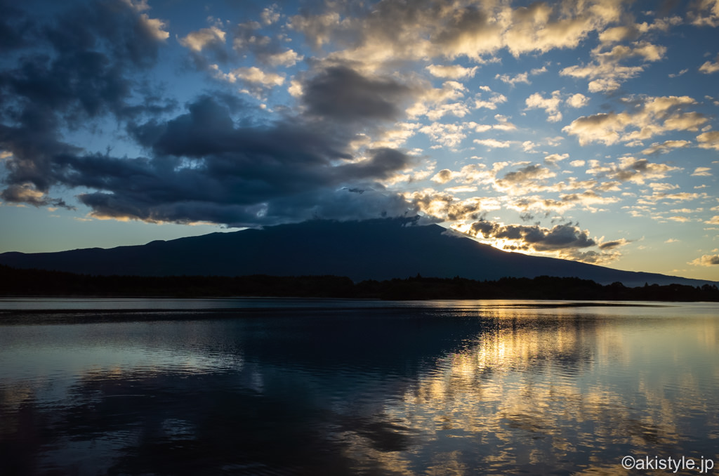 田貫湖で逆さ富士