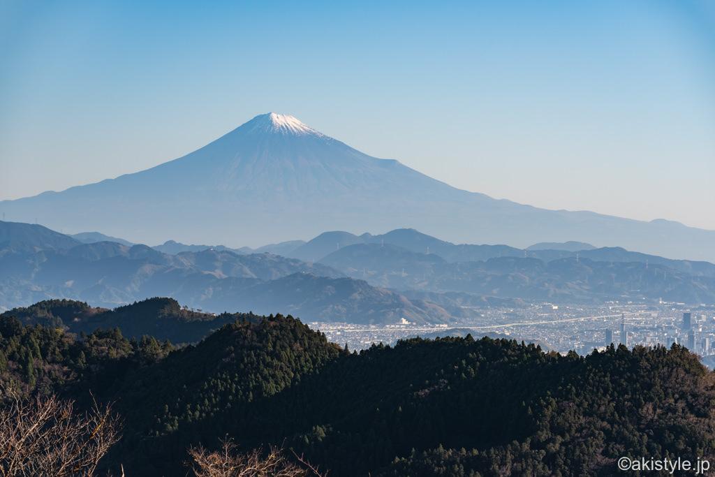 満観峰から見る富士山