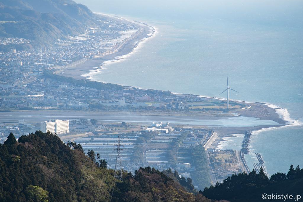 満観峰から見る安倍川河口