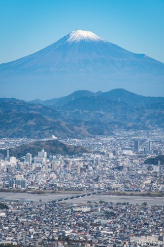 花沢山から見る富士山