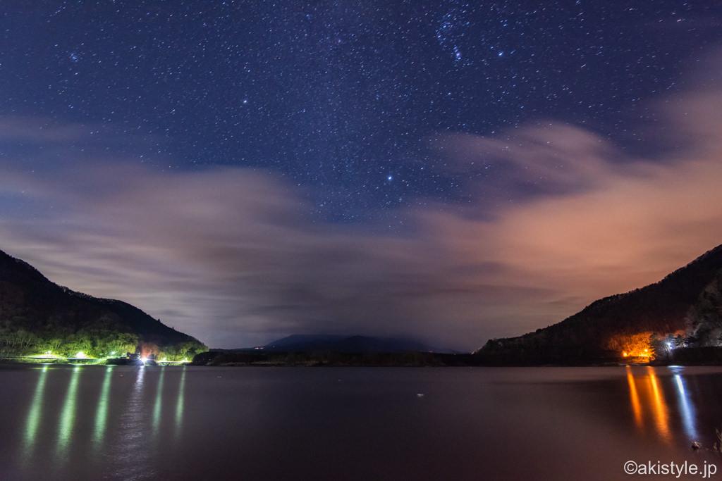 精進湖でふたご座流星群