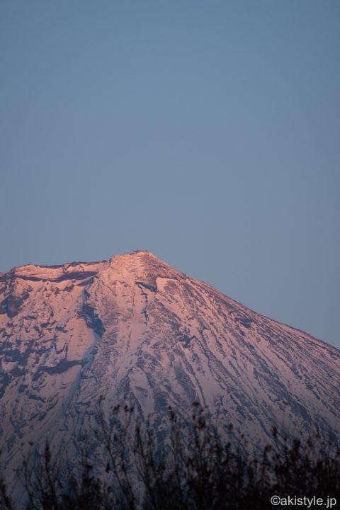 朝霧から見る紅富士