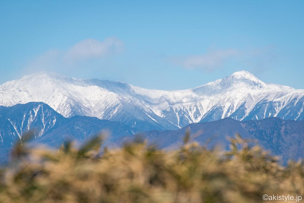 竜ヶ岳山頂から見る南アルプス