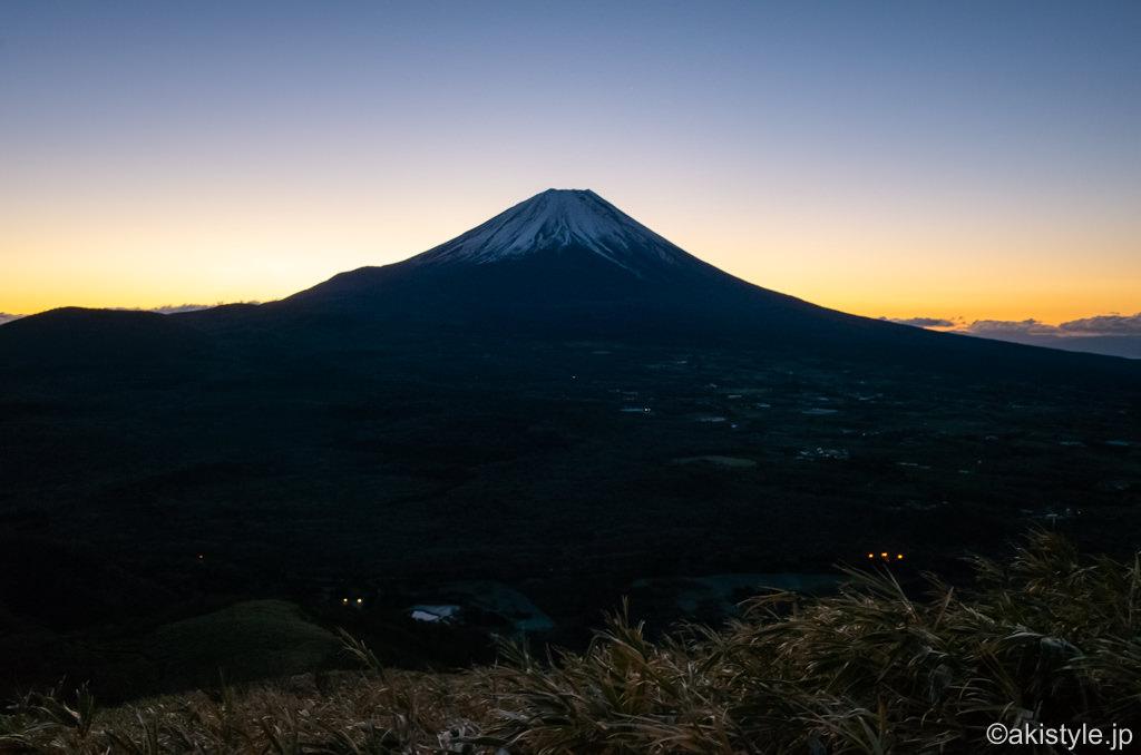 竜ヶ岳ダイヤモンド富士