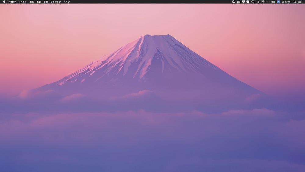 Mac富士山壁紙