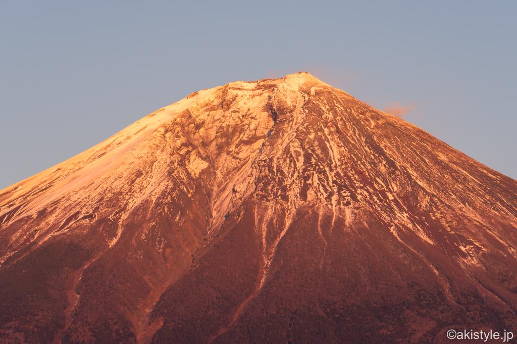 朝霧高原で紅富士