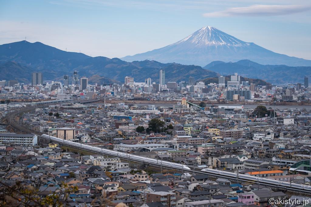 静岡市から富士山と新幹線