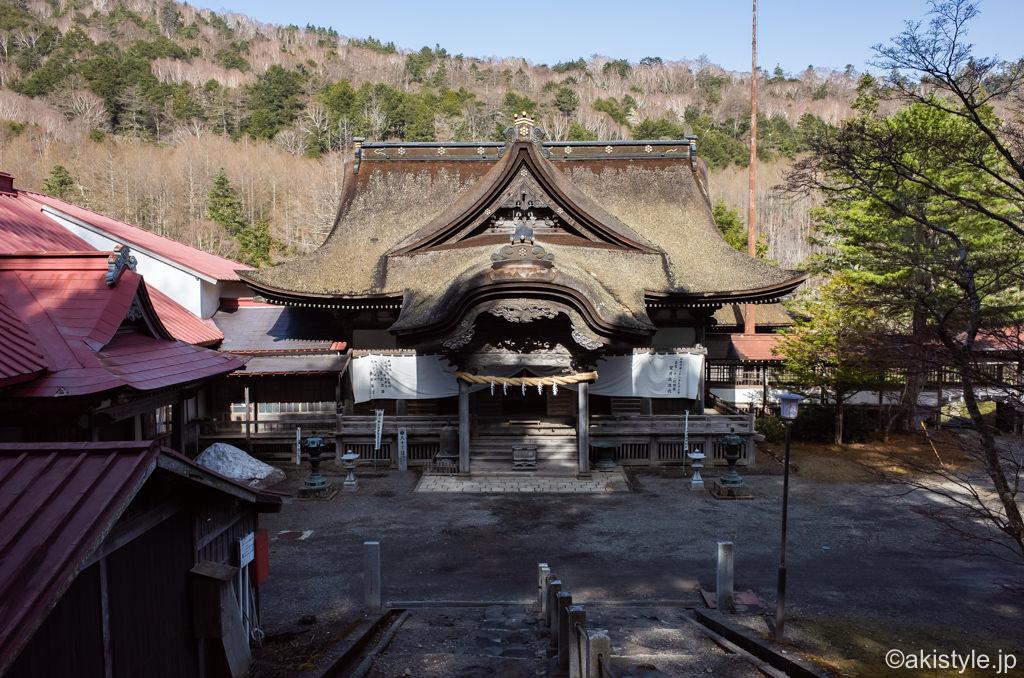 七面山の敬慎院へ参拝