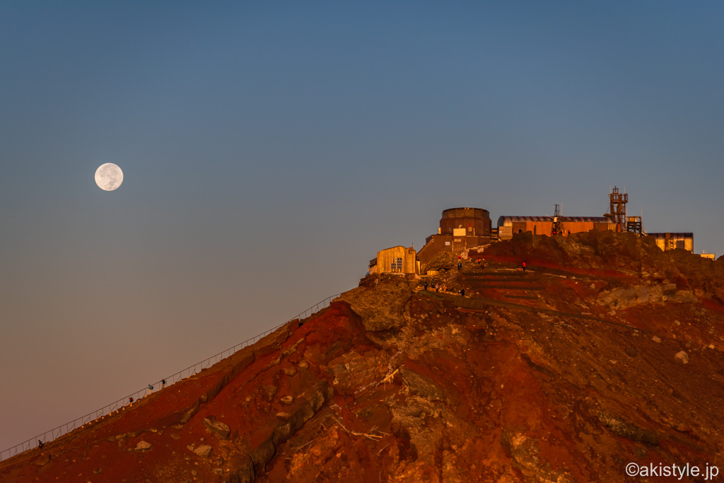 剣ヶ峰と満月