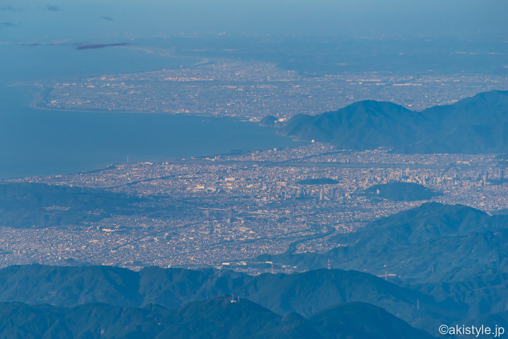 富士山から見た静岡市