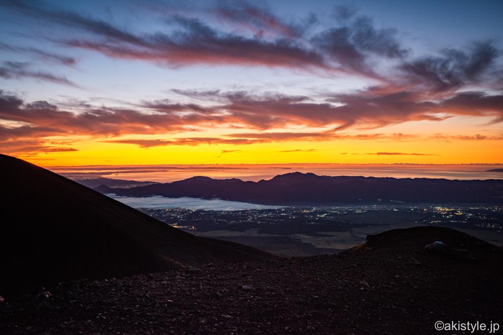宝永山からの朝焼け