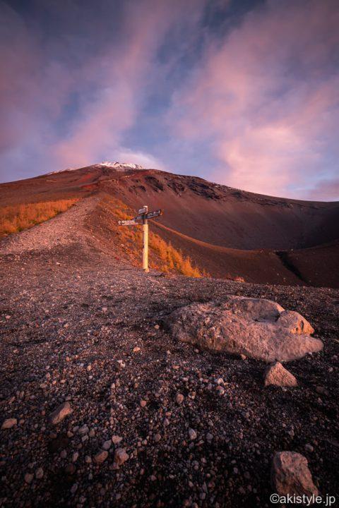 富士山と宝永山分岐