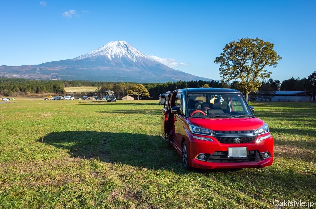 ふもとっぱらキャンプ場からの富士山