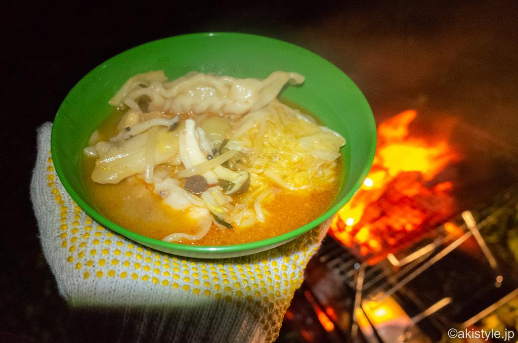 ゆるキャンの餃子鍋